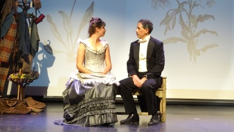 Kat White as Geraldine Moodie and Louis Adams as John Douglas Moodie