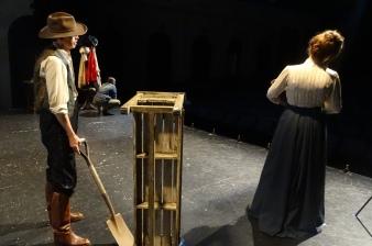 Louis Adams as John Douglas Moodie and Kat White as Geraldine Moodie