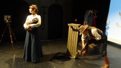 Kat White as Geraldine Moodie and Louis Adams as John Douglas Moodie