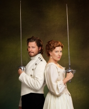 Graham Abbey as Benedick and Maev Beaty as Beatrice in Much Ado About Nothing